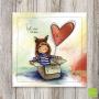"""CS 943 - Carte postale """"Fait avec amour"""""""